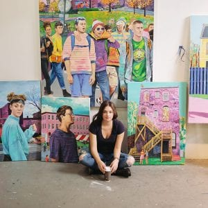 "Danielle Klebes / ""Outdoor Recreation"" mural"