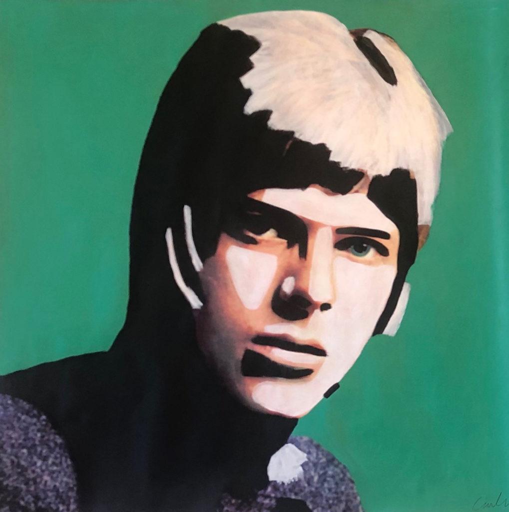 Bowie in Green by Carla Rozman