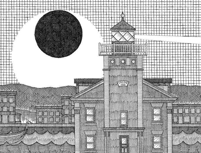The Rondout Effect (on paper) (detail) by Matthew Pleva