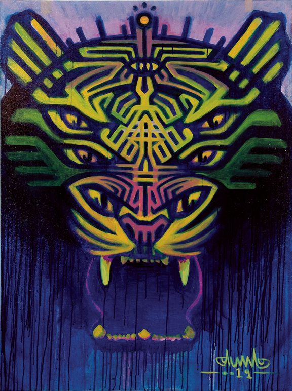 Sacred Seven Eye Tiger by Paul Heath